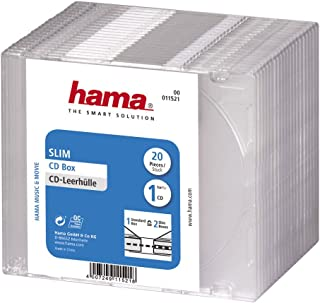 Hama 11521 - Funda para CD (20 Unidades), Transparente