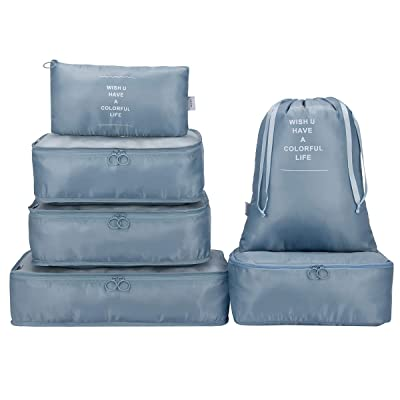 G4Free Packing Cubes 6pcs/7pcs with Shoes Bag S...