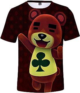 Silver Basic Camiseta de Verano para Niños Videojuego Camisa de Animal Crossing Animal Crossing New Horizons Cosplay Disfr...