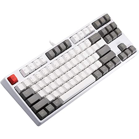 GANSS Tenkyless Mechanical Gaming Keyboard - Mezcla de Colores Teclas PBT de Doble Disparo - Cherry MX Red - Programable - 87 Teclas - Lineal y ...