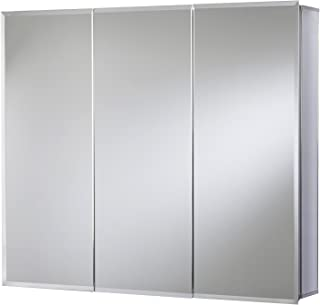 Croydex Kennet Triple Door Tri-View Aluminium Cabinet with Hang N Lock Fitting System, 91.4 x 66 cm