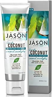 Jason Simply Coconut Refreshing Toothpaste Coconut, Eucalyptus, 4.2 Ounce
