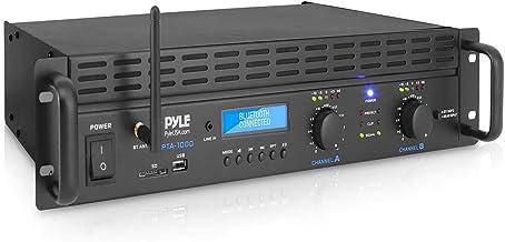 Professional Audio Bluetooth Power Amplifier - 2-Channel Rack Mount Bridgeable, LED Indicators, Shockproof Binding Posts, ...