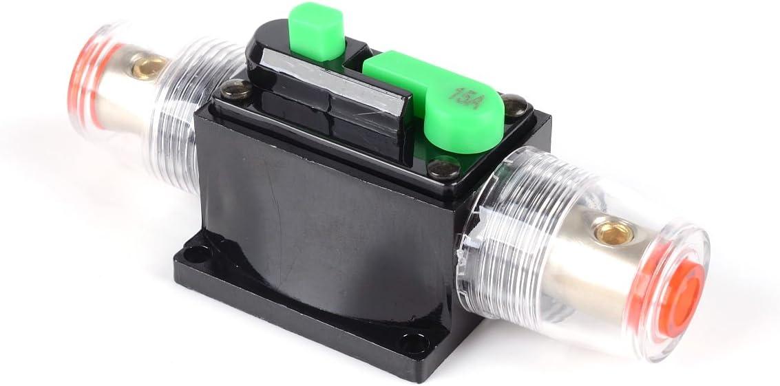 WINOMO 15Amp Max 71% OFF Audio Inline Circuit Breaker Reset Max 56% OFF Fuse Invert