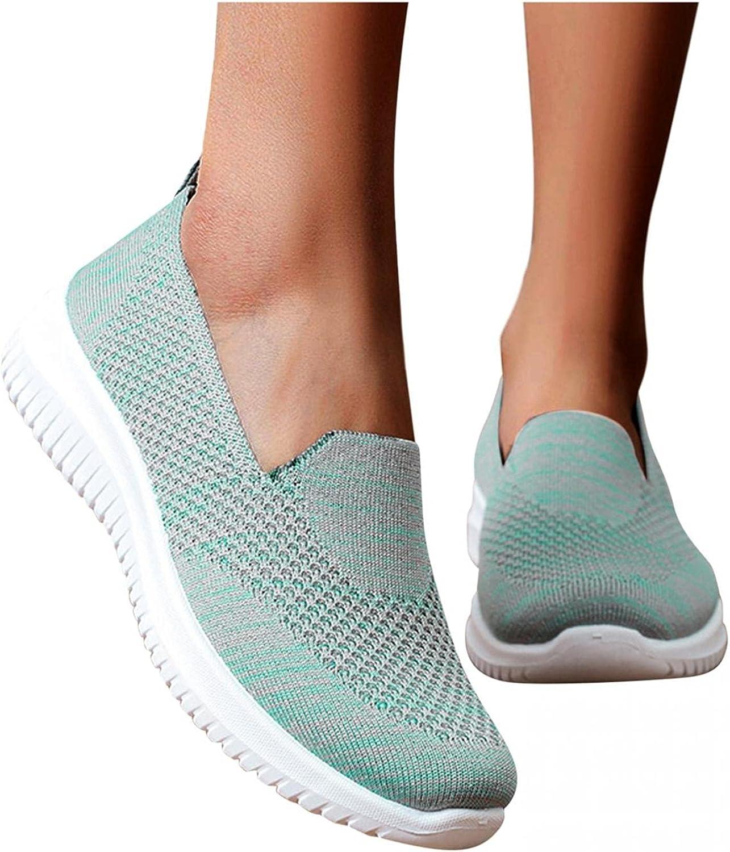 Hbeylia Women's Walking Running Shoes Slip On Sneakers Fashion Casual Lightweight Memory Foam Anti Skid Athletic Hiking Mountaining Tennis Driving Trainers For Women Ladies Work Nurse