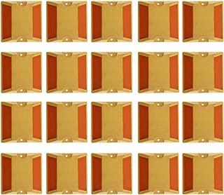 B Blesiya 20Pcs New Two-Way Yellow Raised Pavement Markers Reflectors