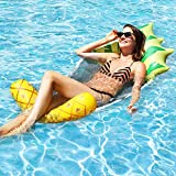 Camlinbo Adult Swimming Pool Float Water Hammock Lounger, Multi Purpose Comfortable Inflatable Water Float Pool Hammock Lounge, Pineapple Swiming Pool Float Hammock