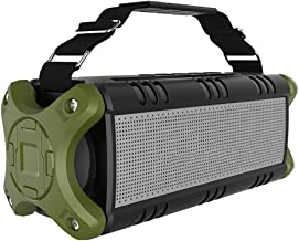 MQQ Wireless Bluetooth Speaker 50W Outdoor Portable Waterproof TWS Speaker Powerful Rich Bass Loud Stereo Sound for Party/... photo