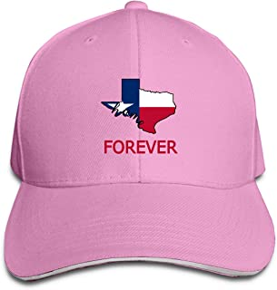 Texas Forever State Flag Map Outdoor Snapback Sandwich Cap Adjustable Baseball Hat Trucker Cap