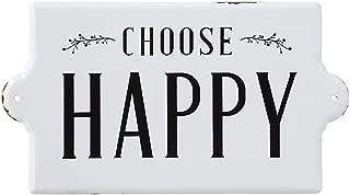 Creative Co-op Choose Happy Enameled Metal Wall Sign