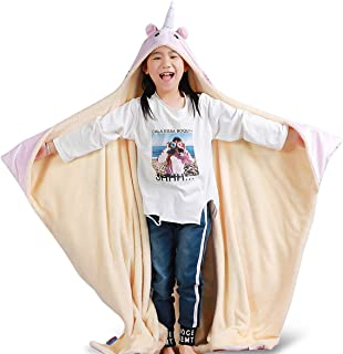 FamFun Baby Unicorn Blanket for Kids - Throw Blankets Wrap with Hood - Super Soft Comfy Large Comforter 50