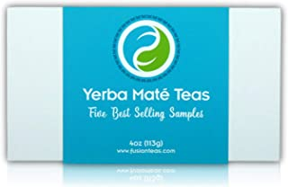 Yerba Mate Tea Sampler Assortment - Set of 5 Gourmet Loose Leaf Tea Sample Sizes - Great Gift Ideas and Coffee Substitute