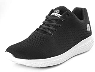 Bacca Bucci® Running Shoes Men Lightweight Fashion Sneakers Walking Footwear Tennis Athletic Shoes Slip-On for Outdoor Sport Gym Jogging Big Size UK-11 to 13