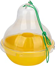 IdeaWorks Pesticide-Free Wasp Trap – Discreet Design to Hide Insect Remains – Four Entry Points to Trap Wasps & Yellow Jackets – Environmentally Friendly – Reusable – Flexible Location