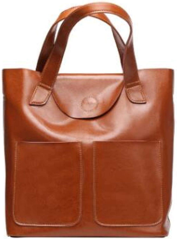 NEW Fashion Women Genuine Leather Solid Oil handbags