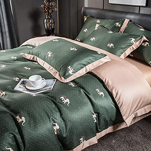 Bedding-LZ Juegos de sábanas de 160x200,Juego de colchas de Seda de Hielo de Verano Cama de Cuatro Piezas Sola Ropa de Cama de Seda-J_1,5 m de Cama (20 Series de 200 * 230) 4 Sets