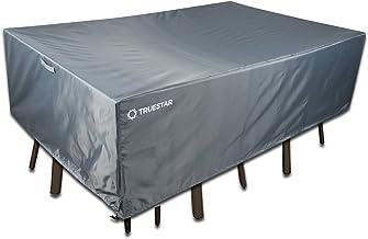 TRUESTAR Patio Furniture Set Cover | 210D Oxford + PU Coating | Durable Rainproof Windproof Anti-UV Lawn Garden Outdoor Di...