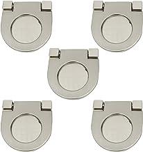 XMHF Cupboard Drawer Flush Mount Pull Ring Handle Knob Silver Tone 5pcs