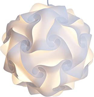 Lightingsky IQ Lamp Shade Toy Self DIY Assembled Puzzle Lights for Room Decoration (White, M-10 inch)