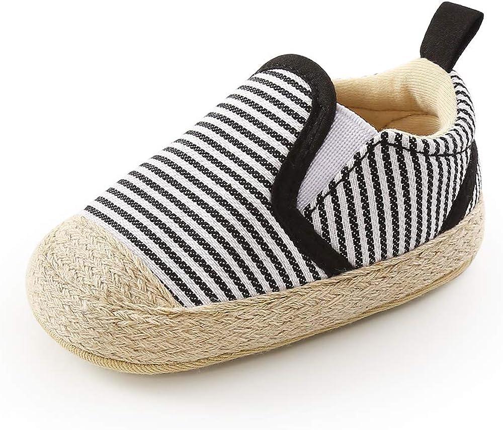 QIETION Baby Girls Boys Loafers, Cute Newborn Crib Shoes, PrewalkerPU Sneakers, Perfect for Baptism/Crawling/Wedding