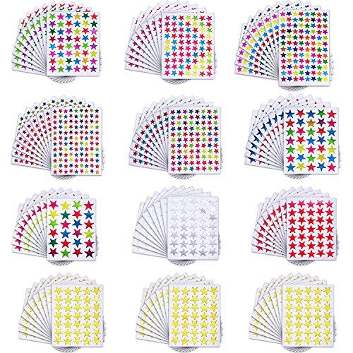 Stern Aufkleber 6440 Grafische Bunte Selbstklebende Sticker, 120 Blatt