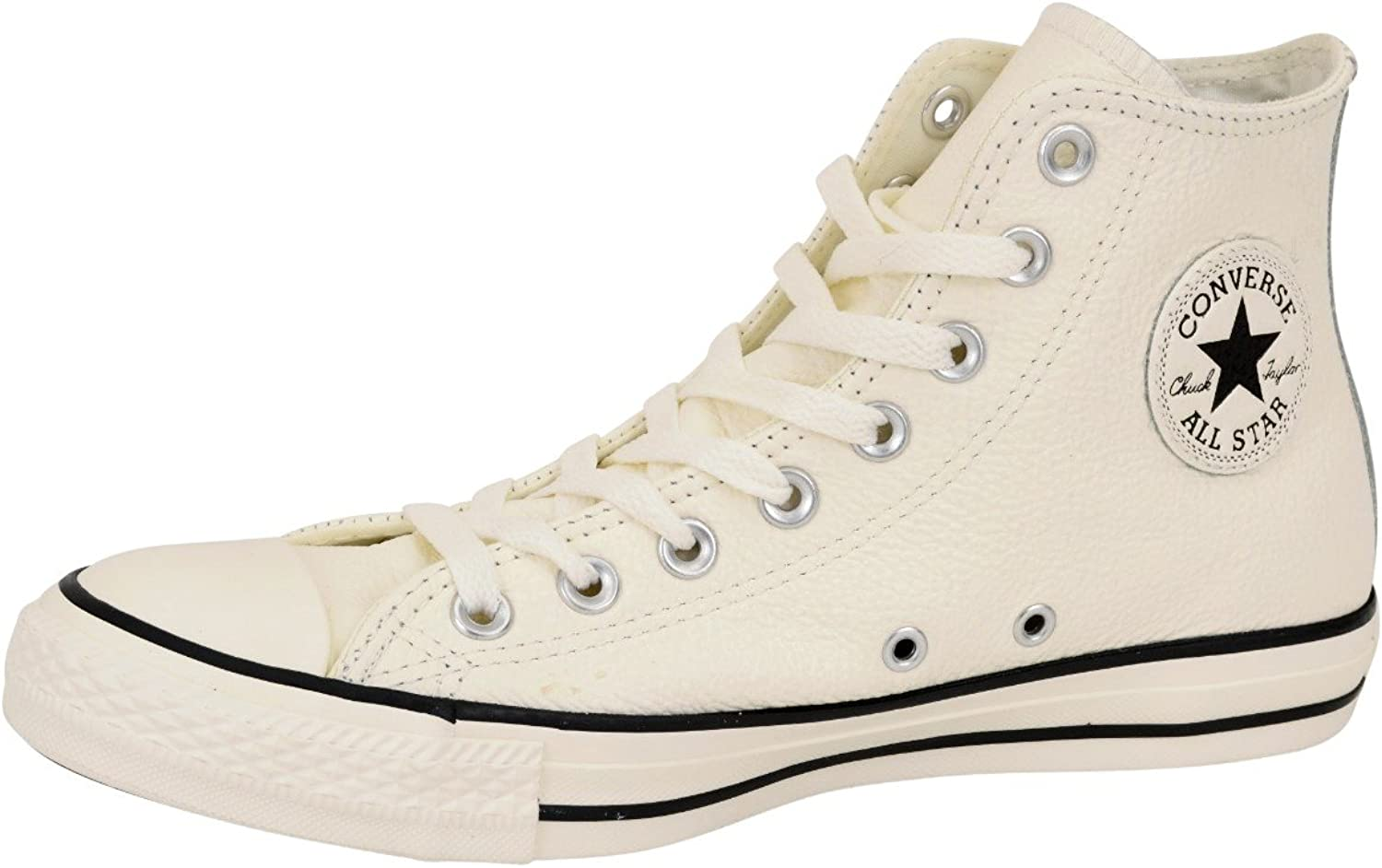 Converse Trainer - Men's 157469C High Top Tumble Leather Trainer in Off White