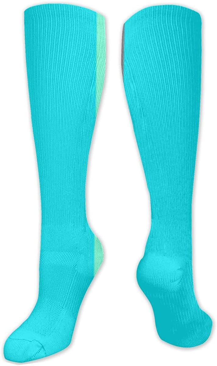 Colorful Stripes Knee High Socks Leg Warmer Dresses Long Boot Stockings For Womens Cosplay Daily Wear