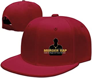 Kuli Love Tupac 2PAC Murder Rap SnapbackSale Unisex Adjustable Peaked Cap Visor Black