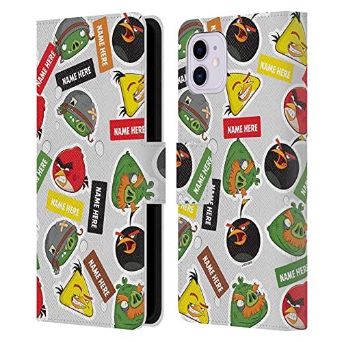 Head Hülle Designs Offiziell Zugelassen Personalisierte Persönliche Angry Bird Darsteller & Namen Muster Kunst Leder Brieftaschen Handyhülle Hülle Huelle kompatibel mit Apple iPhone 11