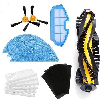 BLUELIRR Kit de accesorios de limpieza para robots aspiradores Conga Excellence 990:cepillos laterales,cepillo central,filtro EPA,filtro malla,cepillo de limpieza: Amazon.es: Hogar