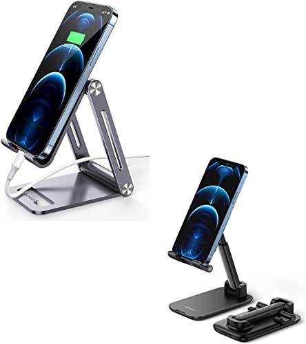 high quality UGREEN outlet online sale Cell Phone Stand Bundle Adjustable Mobile Phone Holder for Desk Compatible for iPhone 12 Pro Max 11 outlet online sale X SE XS XR 8 Plus 6 7 6S online