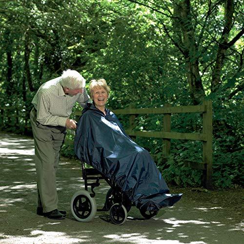Homecraft Rollstuhl-Mac, Long Length, 100% wasserdicht Poncho Kunststoff Regen Schutz, ein vollständige Abdeckung Unisex Regenbekleidung für Männer, Frauen, ältere Menschen, Behinderte und