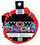 WOW World of Watersports, 11-3000, 2K Tow Rope up to 2 Riders, 60 Feet, 2375 Pounds Break Strength, Floating Foam Buoys – Heavy Duty Rope