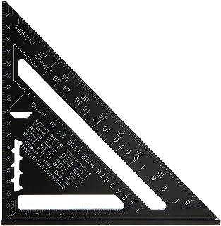 H HILABEE Edelstahl Holzbearbeitung 90//45 Grad Square Layout Gehrung Dreieck Lineal