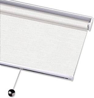 PASSENGER PIGEON Solar Window Shades, Premium Free-Stop Cordless Light Filtering UV Protection Flame Retardant Water Proof Custom Made Roller Shade, 36
