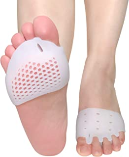 Silicone Toe Separator Forefoot Pads - Ball of Foot Cushions - Metatarsal Pads for Women Men - Gel Forefoot Pads - Forfoot...
