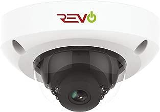 Revo America Ultra HD 4MP Audio Capable IP IK10 Vandal Resistant Mini Dome Surveillance Camera - 100' Night Vision, IP66 Weather Resistant, 3DNR, ONVIF Compatible