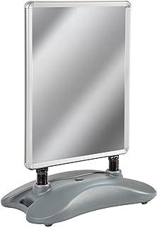 TecTake A1 porte-affiche stop chevalet trottoir aluminium panneau d'affichage avec 2 films, pied en matière plastique robuste