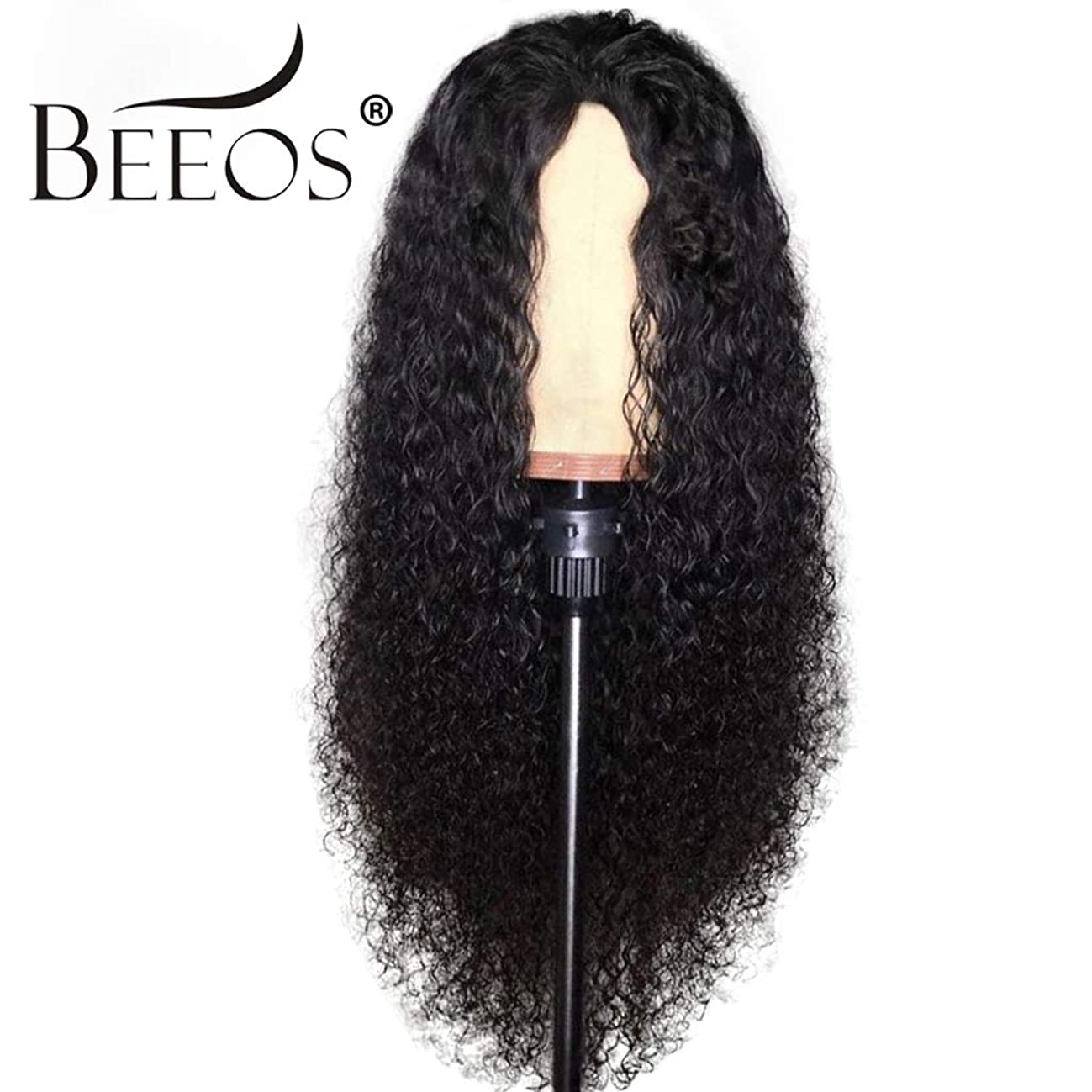 BEEOS Hair Curly 13x6 Lace Front Human Hair Wigs Pre Plucked With Baby Hair Brazilian Remy Hair Human Hiar Wigs, 20inch