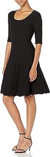 Marca Amazon - Lark & Ro Matisse Half Sleeve Flared Dress Mujer