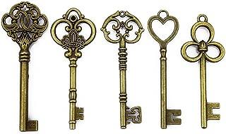 LolliBeads (TM) Mixed 4 Set of Extra Large Skeleton Keys in Antique Bronze - 20 Keys