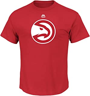 Majestic Atlanta Hawks NBA Supreme Logo Men's Short Sleeve T-Shirt - Red