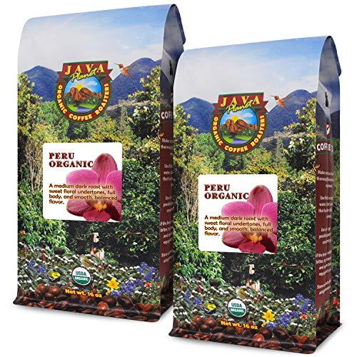 Java Planet's Organic Peruvian Medium Dark Roast Beans