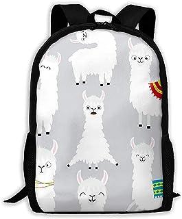 Mochila Llama Alpaca Set Face Glassess Cute Cartoon Funny Bookbag Casual Travel Bag For Teen Boys Girls