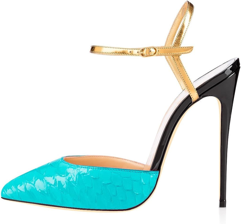 Joogo Women's Fashion Pointed Toe Scale Decoration Heelpiece Sandals