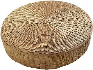 Cojín de Suelo Almohada Ecológico Ronda de Paja Tejida Mano Tatami Estera del Piso de Ceremonia del té Yoga Meditación Pad
