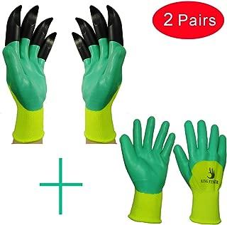 KINGFINGER Garden Genie Gloves, Both Hand Claws Gardening Gloves,Free combination (2 pairs)