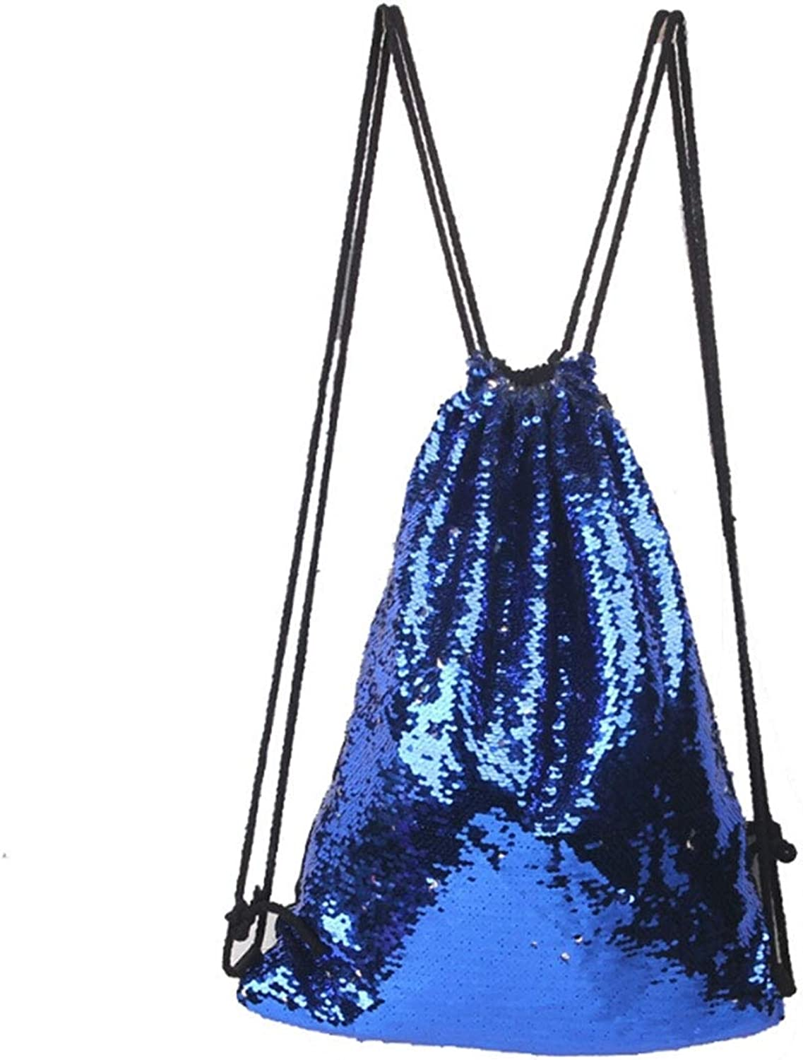 Vacation Shoulder Bag Mermaid Glittering Sequin Drawstring Sports Backpack Convenient (SKU   Hc2988d)