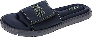 IZOD Men's Memory Foam Sandal, Velcro Adjustable Sport Slide, Size 7 to 12