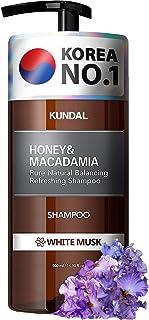 KUNDAL Moisturizing Hair Shampoo for Dry Damaged Hair with Argan Oil, WHITE MUSK, 16.9 oz(500ml), Sulfate Free Paraben Fre...